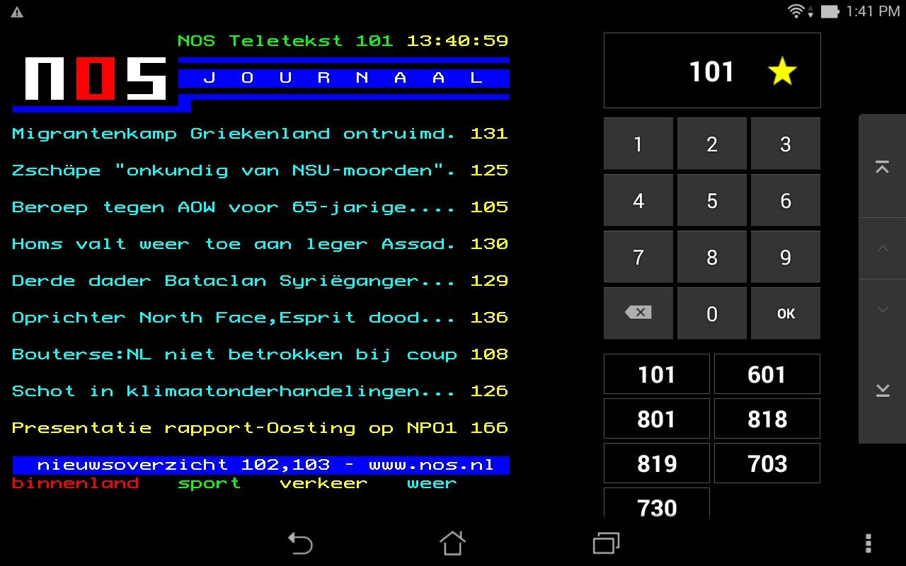 NOS Teletekst- screenshot