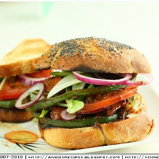 Yakitori Chicken Sandwich on Kaiser Rolls