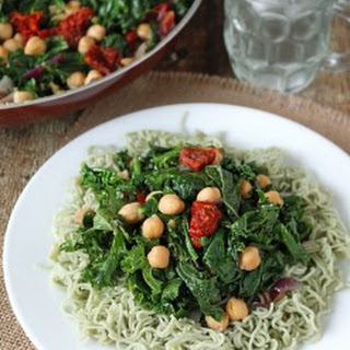 Sautéed Kale And Chickpea Salad