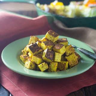 Pan Fried Curry Paneer.