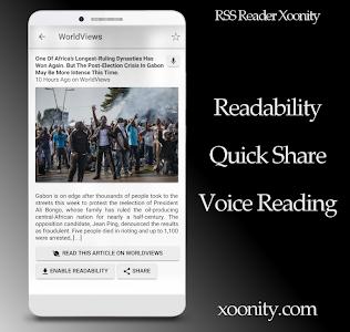 RSS Reader Xoonity - Rss Feed screenshot 7