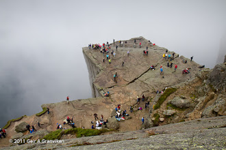 Photo: Another picture of Preikestolen / Pulpit Rock, a day where the cliff was intermittently engulfed in clouds.