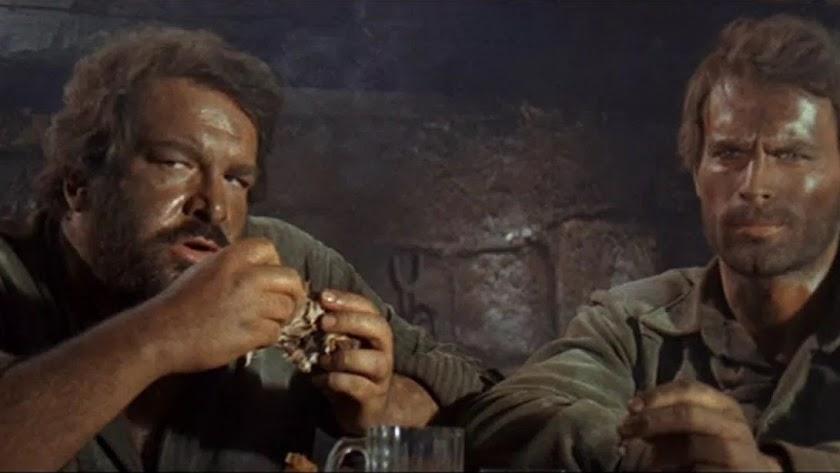 Bud Spencer y Terence Hill en el filme Los Cuatro Truhanes.
