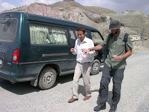 Photo: Our entertaining Van guide who had Mick dancing