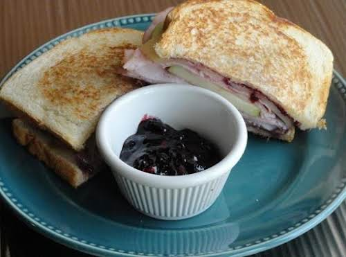 "Click Here for Recipe: Blackberry Apple Sandwich with a Kick ""This blackberry..."