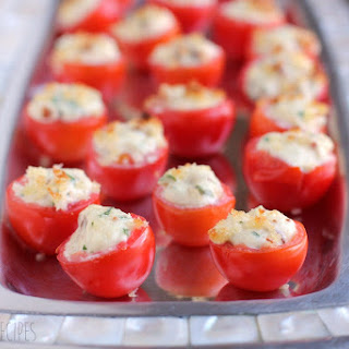 Bacon and Boursin Stuffed Tomatoes.