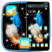 Brief Blue Colorful Feather Theme