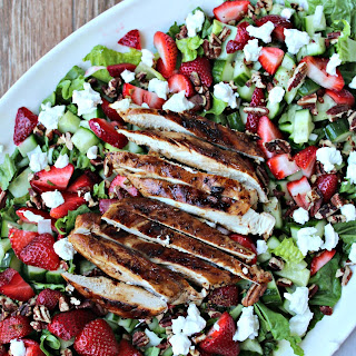 Strawberry Chicken Salad with Honey Balsamic Dressing
