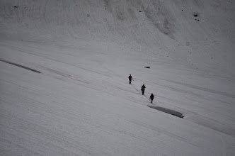 Photo: marche sur front de glace, retour du Monacofjellet