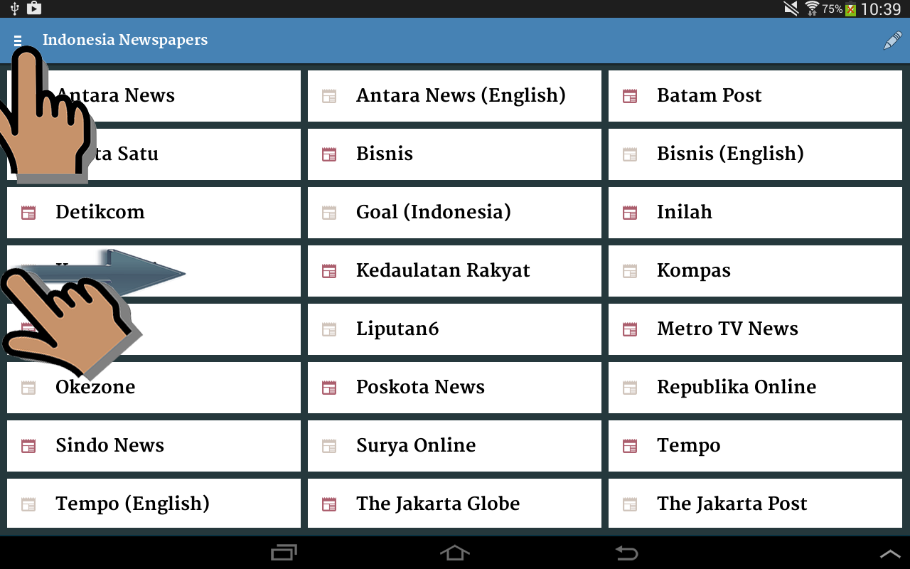 Indonesia Newspapers- screenshot