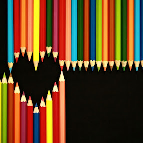 Color of Love by Agus Supriyanto - Artistic Objects Other Objects ( abstract, colorful, still life, pencils )
