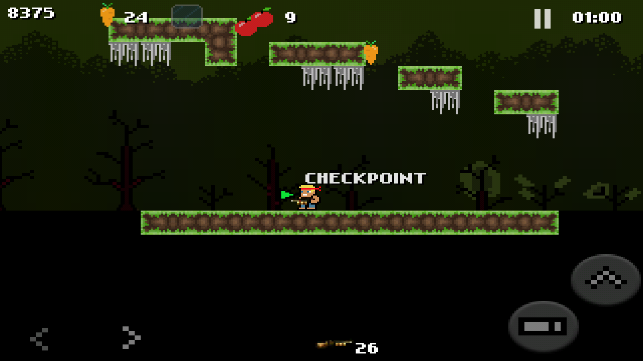 ZombieRun - Retro platformer- screenshot
