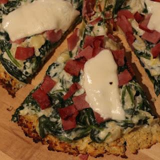 Spinach Artichoke Pizza.