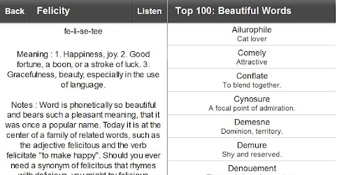 Top 100 Beautiful Words Lite – Apps on Google Play