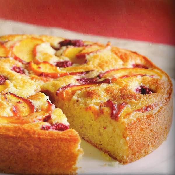 Raspberry Peach Cake