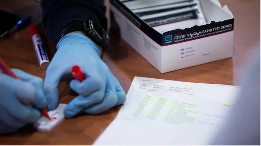 Test para la detección del coronavirus.