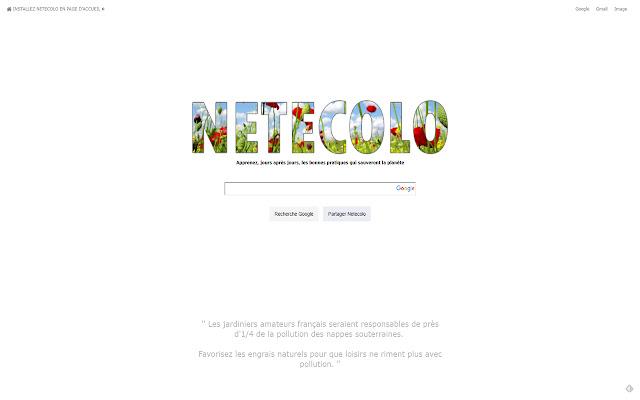 Une page d'accueil pour la planète terre