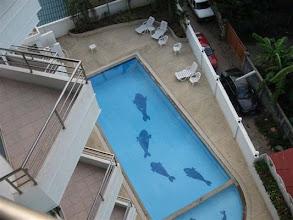 Photo: pohled z balkonu na bazén