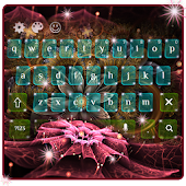 Sparkle Flower Keyboard Theme