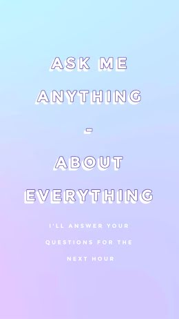 Ask Me Anything Words - Instagram Question item