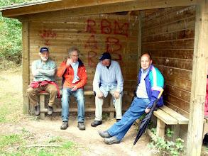 Photo: pauzeren in een schuilhut