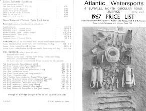 Photo: Aquasub Pricelist, 1967