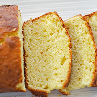 Olive Oil Sour Cream Pound Cake with Lemon
