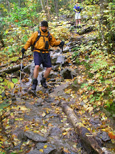 Photo: The Waterbury Trail on Mount Hunger was literally a creek.