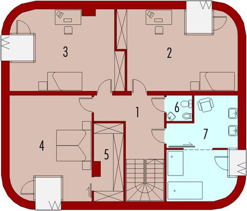 Mirror G2 - Rzut piętra