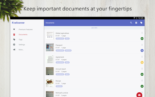 FineScanner - docs recognition- screenshot thumbnail