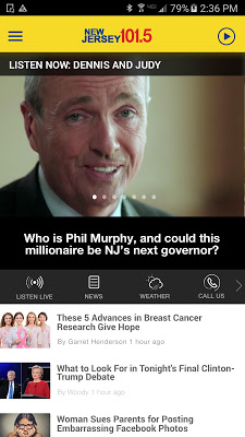 NJ 101.5 - Proud to be New Jersey (WKXW) - screenshot