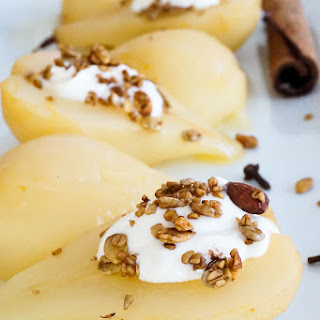Citrus Braised Pears with Whipped Honey Ricotta