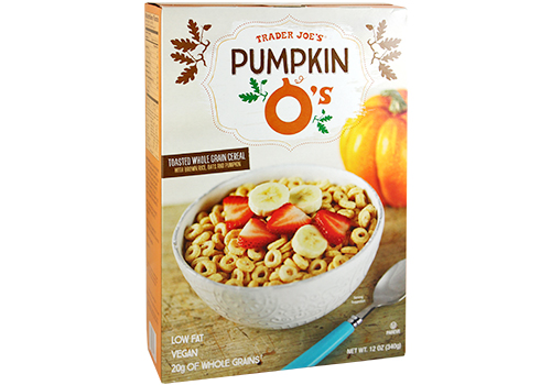 Box of Trader Joe's Pumpkin Os
