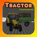 Tractor Drive: Transport Cargo Cow, Tree and Hay icon