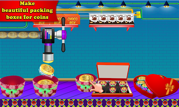 download chocolate coin factory money candy making games apk latest