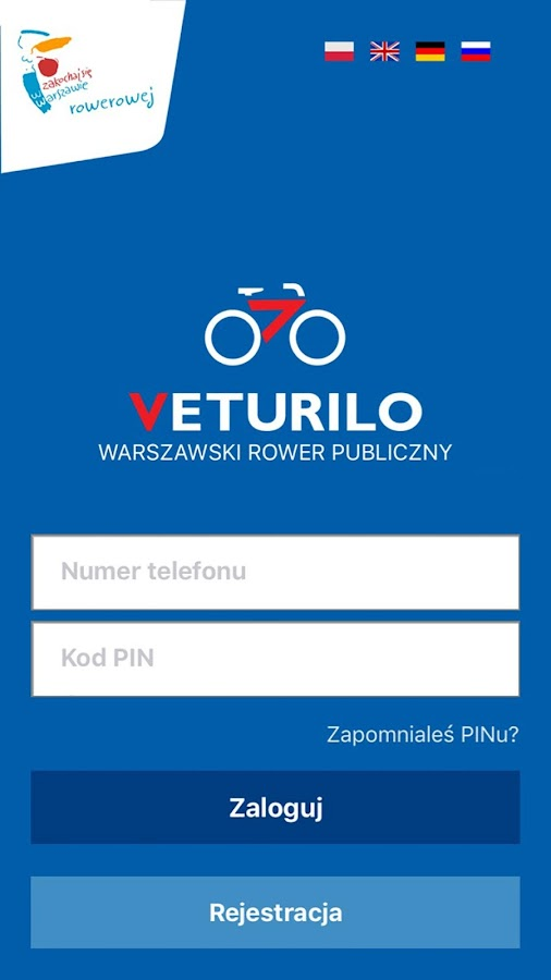 Veturilo- screenshot
