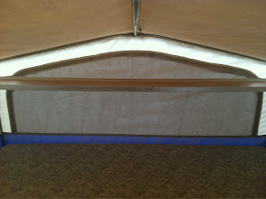 Photo: King bed with overhead shelf