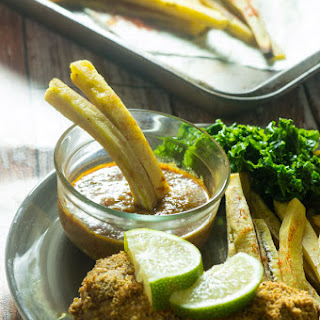 Baked Fish With Green Plantain Fries (fish And Chips)