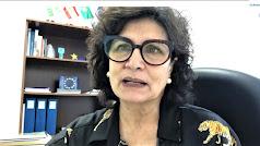 Carmen Navarro durante el encuentro virtual.