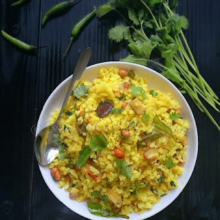 Kanda Poha or Pohay or Onion Poha