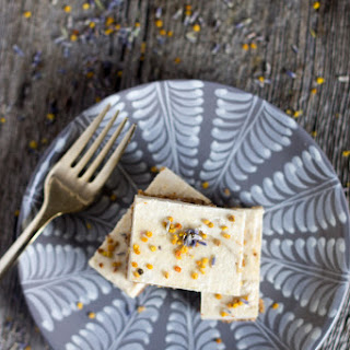 Sweet Lime Squares With Lavender And Bee Pollen