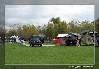 Photo: ORCC founders displayed their Tentrax and Jeep for camping options.  A couple of other pop-up tents on wheels were also on display at the Festival.