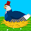 Idle Chicken Farm: Discover and Paint Easter Eggs icon