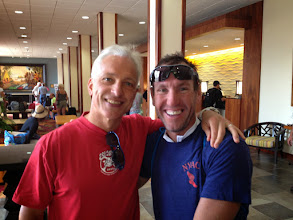 Photo: Great to see long time friend and Ironman Champ Bryan Rhodes from New Zealand.