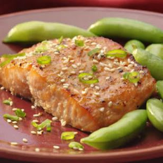 Broiled Salmon with Miso Glaze for Two.