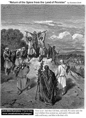 Return of the spies from the promised land - Gustave Dore
