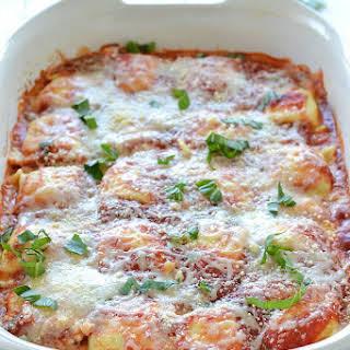Baked Tomato Basil Ravioli.