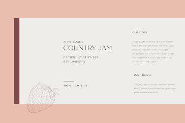 Country Jam - Label template