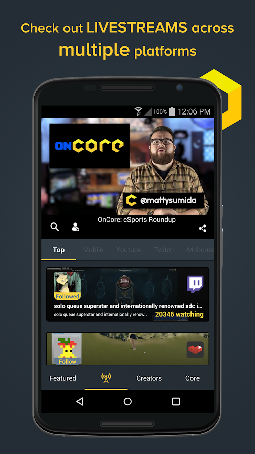 Core: Watch Mobile Game Videos- screenshot