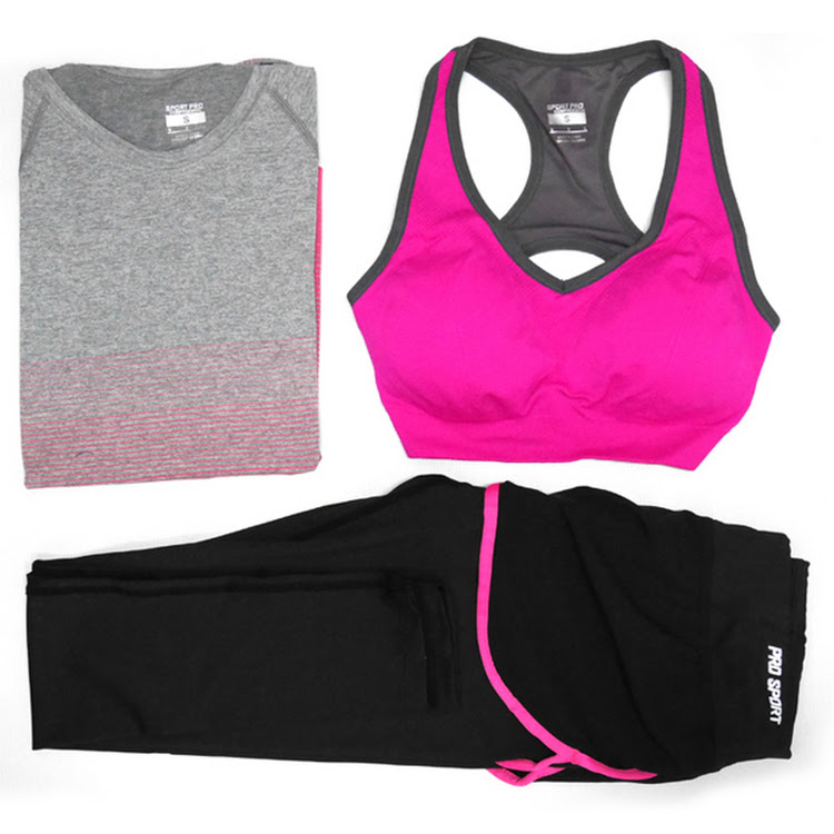 Women sportswear (3 piece set) fitness, gym, yoga running ladies sports wear suit by Supermodels Secrets